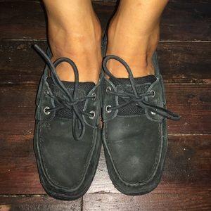 Women's Sperry Black on Black Top-Siders Size 7.5